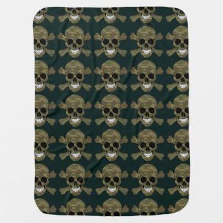 Camouflage Skull And Crossbones Baby Blanket