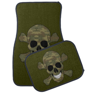 Camouflage Skull And Crossbones Car Mats