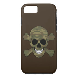 Camouflage Skull And Crossbones iPhone 7 Case