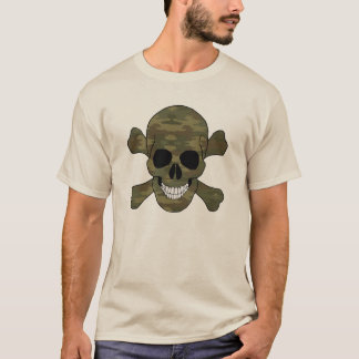 Camouflage Skull And Crossbones Shirt
