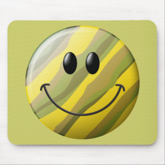 Camouflage Smiley Face Mouse Mat