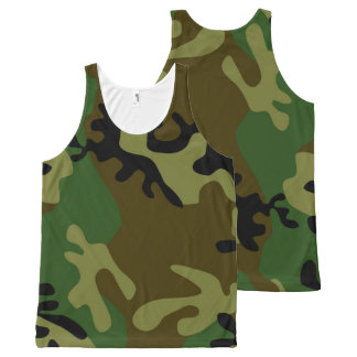 Camouflage Tank Top All-Over Print Tank Top