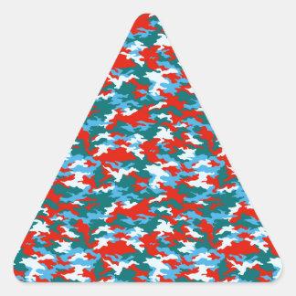 Camouflage Triangle Sticker