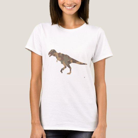 Camouflage Tyranosaurus Rex Silhouette T-Shirt