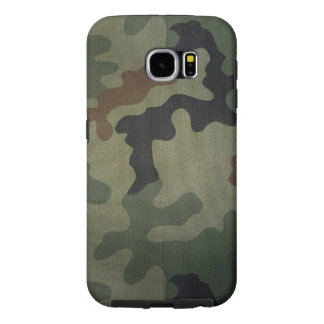 Camouflage Vintage Style Pattern Samsung Galaxy S6 Cases