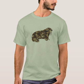 Camouflage Walrus Silhouette T-Shirt