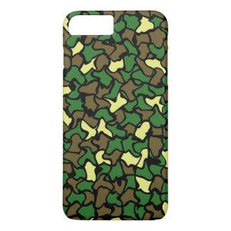 Camouflage Wobble Tile Pattern iPhone 7 Plus Case