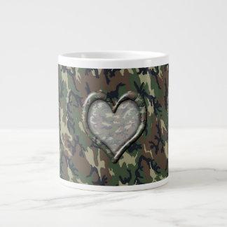 Camouflage Woodland Forest Heart on Camo Jumbo Mug