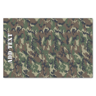 Camouflage Woodland Green Military Pattern Tissue Paper