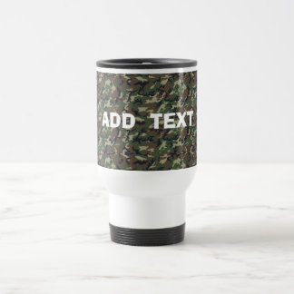 Camouflage Woodland Travel Mug