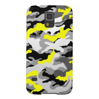 Camouflage Yellow Black Como Army Military Print Galaxy S5 Covers