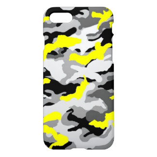 Camouflage Yellow Black Como Army Military Print iPhone 8/7 Case