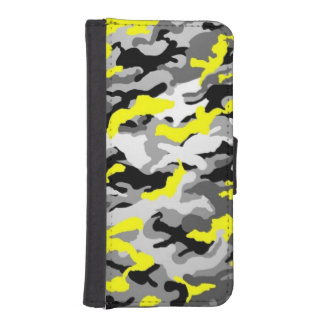 Camouflage Yellow Black Como Army Military Print iPhone SE/5/5s Wallet Case