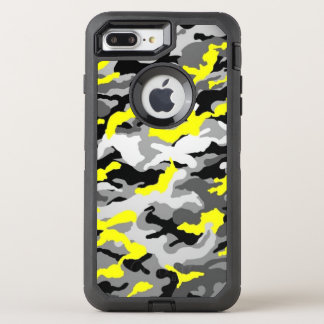 Camouflage Yellow Black Como Army Military Print OtterBox Defender iPhone 8 Plus/7 Plus Case