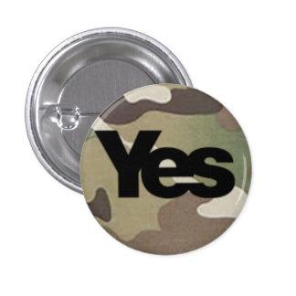 Camouflage Yes Badge