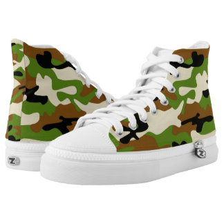 camouflage Zipz High Top Shoes
