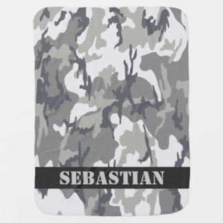 Camouflaged Pattern Personalized Baby Blanket