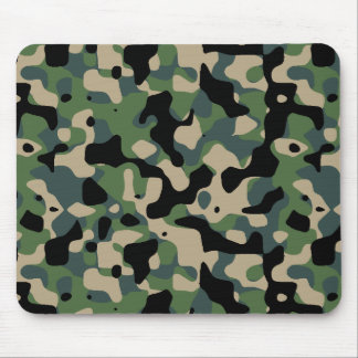 Camouflaged standard jungle mouse pad