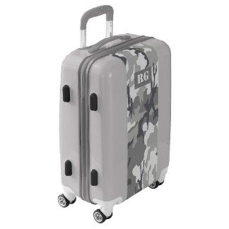 Camouflaged Urban Monogrammed Personalized Luggage