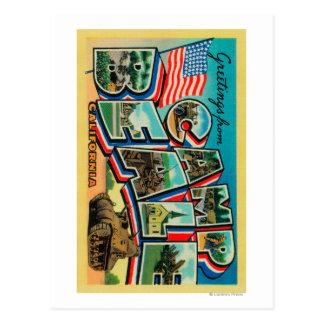 Camp Beale, California - Large Letter Scenes Postcard