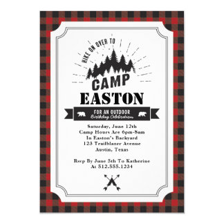 Camp Birthday Party Invitation