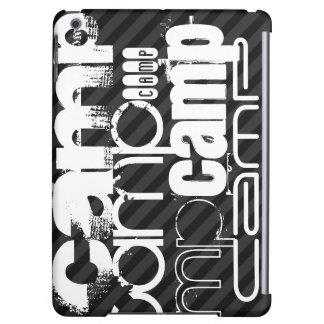 Camp; Black & Dark Gray Stripes iPad Air Case