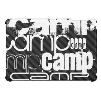 Camp; Black & Dark Gray Stripes iPad Mini Cover