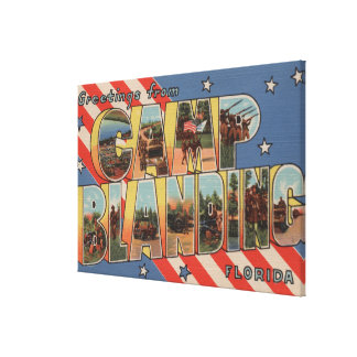 Camp Blanding, Florida - Large Letter Scenes Canvas Print
