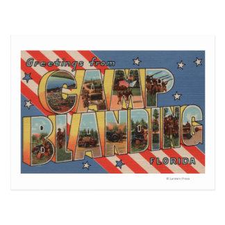 Camp Blanding, Florida - Large Letter Scenes Postcard