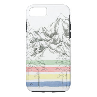 Camp Blanket & Mountains phone case
