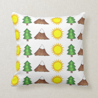 Camp Camping Mountain Climbing Trees Pillow