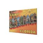 Camp Cassadaga, Florida - Large Letter Scenes Canvas Print