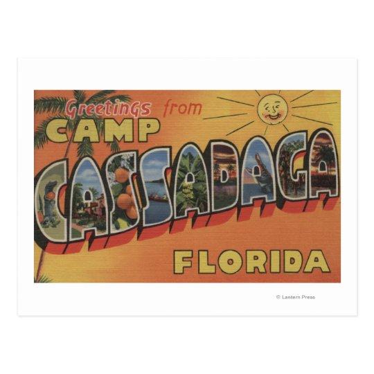 Camp Cassadaga, Florida - Large Letter Scenes Postcard