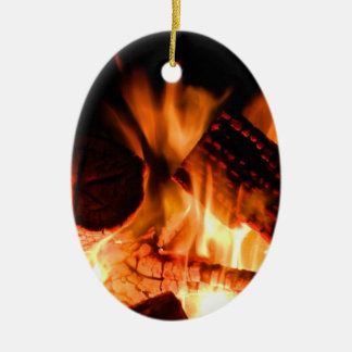 Camp Fire Christmas Ornament