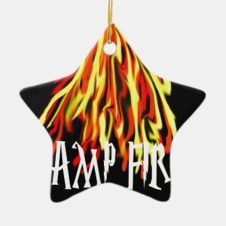 Camp Fire Cool Rich Texture Ceramic Star Decoration