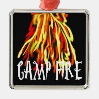 Camp Fire Cool Rich Texture Ornament