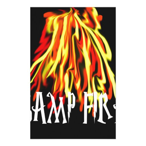 Camp Fire Cool Rich Texture Stationery Design