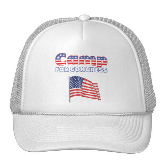 Camp for Congress Patriotic American Flag Trucker Hat