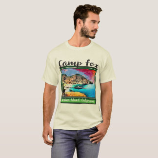Camp Fox Blue and Red Sky in Green Frame T-Shirt
