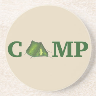 CAMP Green Camping Outdoor Tent Hiking Summer Camp Coaster