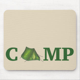CAMP Green Camping Outdoor Tent Hiking Summer Camp Mouse Mat