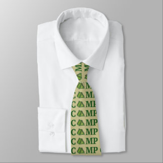 CAMP Green Tent Summer Camping Hiking Camper Tie