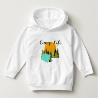 Camp Life Fun Tent Camping Wilderness Kids Hoodie