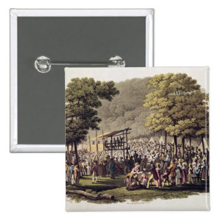 Camp Meeting of the Methodists in North 15 Cm Square Badge
