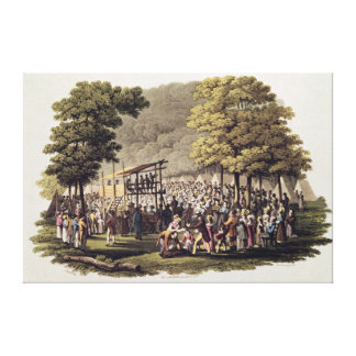 Camp Meeting of the Methodists in North Canvas Print
