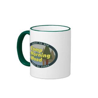 Camp Morning Wood drinkware Ringer Coffee Mug