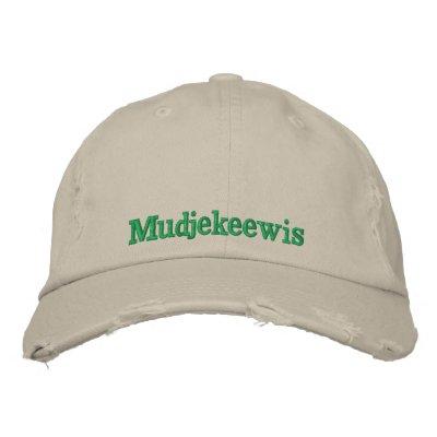 CAMP MUDJEKEEWIS EMBROIDERED BASEBALL CAP