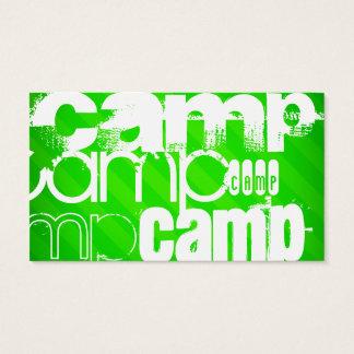 Camp; Neon Green Stripes
