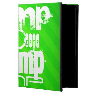 Camp; Neon Green Stripes iPad Air Cover
