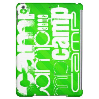 Camp; Neon Green Stripes iPad Air Case